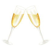 Glases de Twoo do champanhe Fotos de Stock Royalty Free