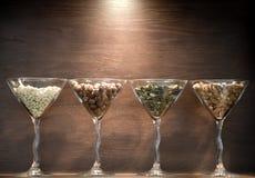 Glases met noten Stock Foto
