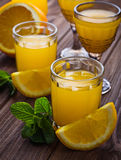 Glases of orange juice with mint Royalty Free Stock Images