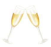 Glases van Twoo van champagne Royalty-vrije Stock Foto's