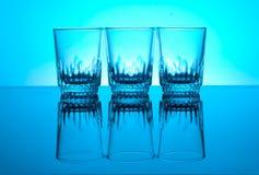 Glasesg de la vodka Imagen de archivo