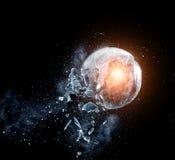 Glasexplosie royalty-vrije stock afbeelding
