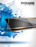 Glasfahne mit abstrakter Form und glattem Effekt Lizenzfreies Stockfoto