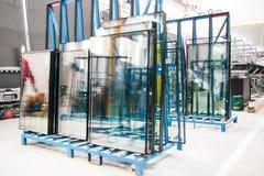 Glasfensterfabrik stockfoto