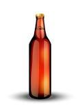 Glasflaska med den kolsyrade drinken Fotografering för Bildbyråer
