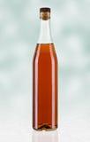 Glasfles brandewijn Stock Fotografie