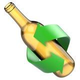 Glasfles recyclingsconcept Royalty-vrije Stock Afbeeldingen