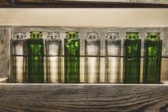 Glasflessen Royalty-vrije Stock Afbeelding