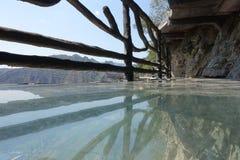 Glasgang in Shidu Peking Royalty-vrije Stock Foto's