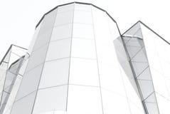 Glasgebäude in Schwarzweiss Stockfoto