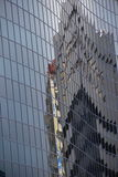 Glasgebäudefassade Stockfotos