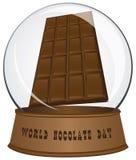 Glasgebied - Chocoladedag Royalty-vrije Stock Foto