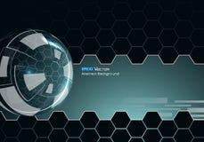 Glasgebied met zeshoeken Vector Illustratie