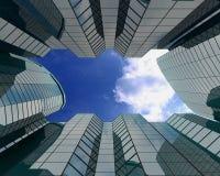 Glasgebouwen op grote hoogte Royalty-vrije Stock Foto