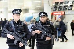 Glasgow Airport Armed Police Immagine Stock Libera da Diritti