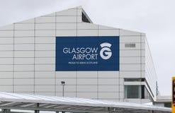 Glasgow Airport Scotland, orgulhoso servir Escócia imagens de stock royalty free