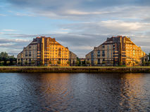 Glasgow apartment buildings Stock Photography