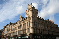 Glasgow Architecture. Corner building in Glasgow Scotland Royalty Free Stock Image