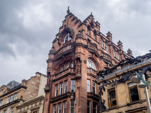Glasgow architecture. Architecture in the city of Glasgow Scotland Royalty Free Stock Images