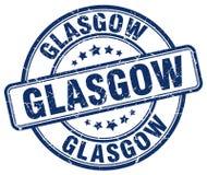 Glasgow blue grunge round vintage stamp Royalty Free Stock Photography
