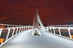 Glasgow Bridge. Modern bridge in Glasgow at night royalty free stock photo