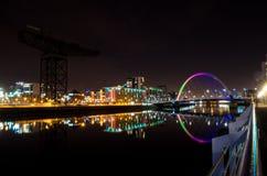 Glasgow Bridge. Night scene of the Glasgow Squinty bridge Stock Images