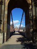 Glasgow Bridge. Sunny day in Glagsow. On the Bridge Royalty Free Stock Image