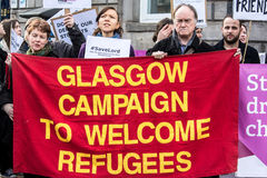Glasgow Campaign to Welcome Refugees Royalty Free Stock Photo