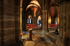 Glasgow cathedral. Old Columns in Glasgow cathedral Royalty Free Stock Photo