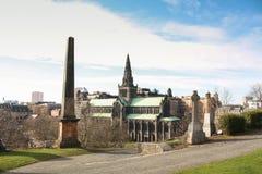 Glasgow Cathedral auf einem kalten klaren Morgen stockbilder
