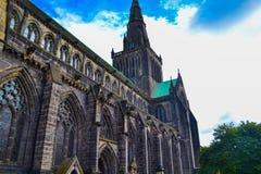 Glasgow Cathedral eller höga Kirk av Glasgow eller för St Kentigern ` s eller Arkivfoto