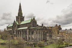 Glasgow Cathedral From The Necropolis Arkivbild