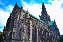 Glasgow Cathedral o alto Kirk del ` s della st o di Glasgow Kentigern o immagini stock libere da diritti