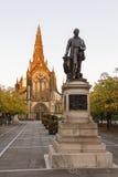Glasgow Cathedral och Sir David Livingstone Arkivfoto