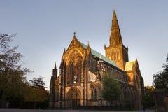Glasgow Cathedral på skymning Arkivbild
