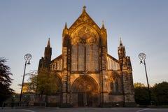 Glasgow Cathedral på solnedgången Royaltyfri Bild