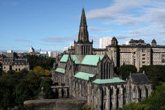 Glasgow Cathedral and Royal Infirmary. Glasgow Cathedral and Royal Infirmary as seen from the Necroplolis Stock Image