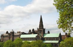 Glasgow Cathedral in Scotland, United Kingdom. A view of the famous Glasgow Cathedral in Glasgow, Scotland of the United Kingdom Royalty Free Stock Photos