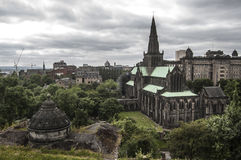 Glasgow Cathedral. Shot from the Necropolis royalty free stock image