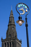 Glasgow Cathedral Spire and City Coat of Arms Royalty Free Stock Photography