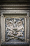 Glasgow Cathedral Stone Skull immagini stock