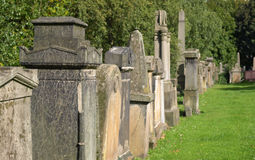 Glasgow cemetery Stock Image