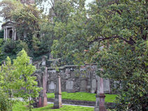 Glasgow cemetery Royalty Free Stock Images