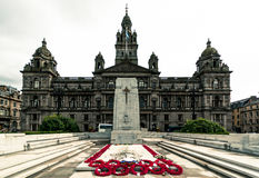 Glasgow Cenotaph. First World War memorial in George Square, Glasgow Royalty Free Stock Images