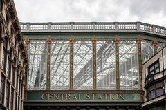 Glasgow central station. Roof Details Glasgow central station royalty free stock image
