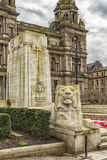 Glasgow City Cenotaph. The Cenotaph war memorial in front of the City Chambers in George Square, Glasgow, Scotland Stock Photos
