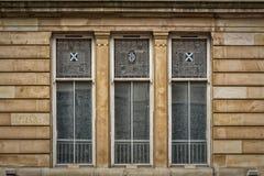 Glasgow City Centre Window Arkivfoton