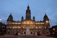 Glasgow City Chambers George Square, Skottland arkivbild