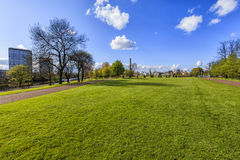 Glasgow cityscape, view from the park Royalty Free Stock Images