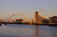 Glasgow Clyde River View Royaltyfri Bild